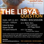 The Libya Question - Panel Discussion
